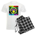 Star Pig Disco Graphic Men's Light Pajamas