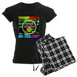 Star Pig Disco Graphic Women's Dark Pajamas