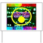 Star Pig Disco Graphic Yard Sign