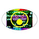 Star Pig Disco Graphic Sticker (Oval 10 pk)