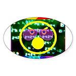 Star Pig Disco Graphic Sticker (Oval 50 pk)