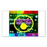 Star Pig Disco Graphic Sticker (Rectangle 10 pk)