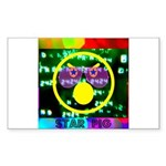 Star Pig Disco Graphic Sticker (Rectangle 50 pk)