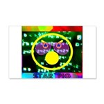 Star Pig Disco Graphic 20x12 Wall Decal
