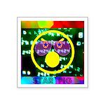 Star Pig Disco Graphic Square Sticker 3