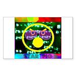 Star Pig Disco Graphic Sticker (Rectangle)