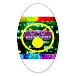 Star Pig Disco Graphic Sticker (Oval)