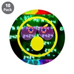 """Star Pig Disco Graphic 3.5"""" Button (10 pack)"""