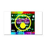 Star Pig Disco Graphic Car Magnet 20 x 12