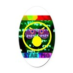 Star Pig Disco Graphic Oval Car Magnet