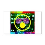 Star Pig Disco Graphic Rectangle Car Magnet