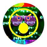Star Pig Disco Graphic Round Car Magnet