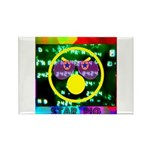 Star Pig Disco Graphic Rectangle Magnet