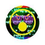 "Star Pig Disco Graphic 3.5"" Button"