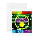 Star Pig Disco Graphic Greeting Card