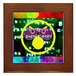 Star Pig Disco Graphic Framed Tile