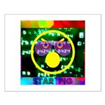 Star Pig Disco Graphic Small Poster