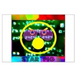 Star Pig Disco Graphic Large Poster