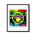 Star Pig Disco Graphic Framed Panel Print