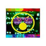 Star Pig Disco Graphic Throw Blanket
