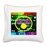 Star Pig Disco Graphic Square Canvas Pillow