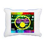 Star Pig Disco Graphic Rectangular Canvas Pillow