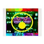 Star Pig Disco Graphic 5'x7'Area Rug