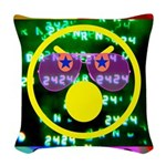 Star Pig Disco Graphic Woven Throw Pillow
