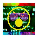 Star Pig Disco Graphic Tile Coaster