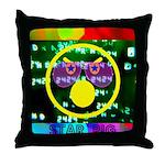Star Pig Disco Graphic Throw Pillow