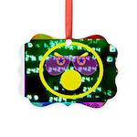 Star Pig Disco Graphic Picture Ornament