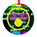 Star Pig Disco Graphic Round Ornament