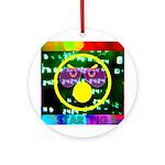Star Pig Disco Graphic Ornament (Round)