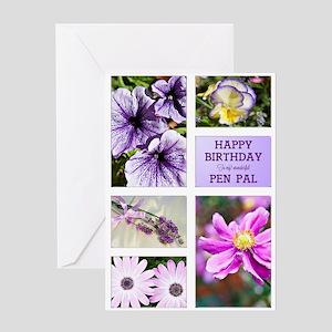 Pen Pal birthday card Greeting Card