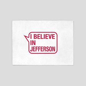 I Believe In Jefferson 5'x7'Area Rug