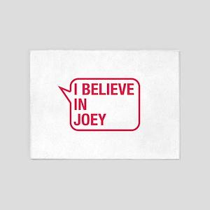 I Believe In Joey 5'x7'Area Rug