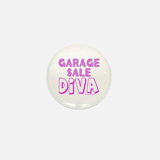 GARAGE SALE DIVA Mini Button