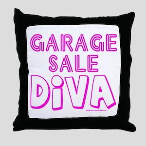 GARAGE SALE DIVA Throw Pillow