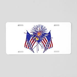 Celebrate America fireworks Aluminum License Plate