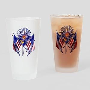 Celebrate America fireworks Drinking Glass