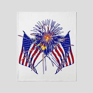Celebrate America fireworks Throw Blanket