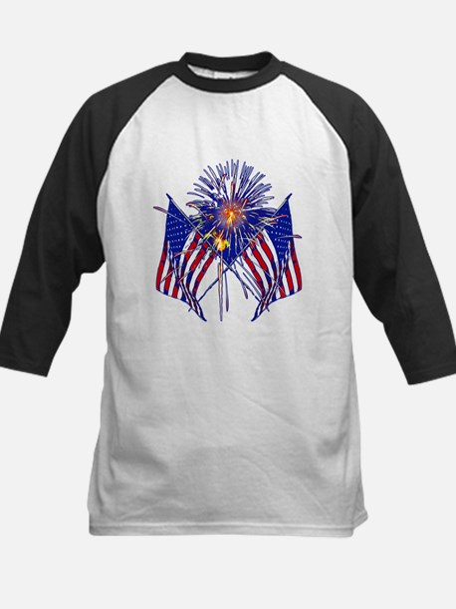 Celebrate America fireworks Kids Baseball Jersey
