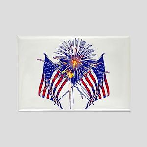 Celebrate America fireworks Rectangle Magnet