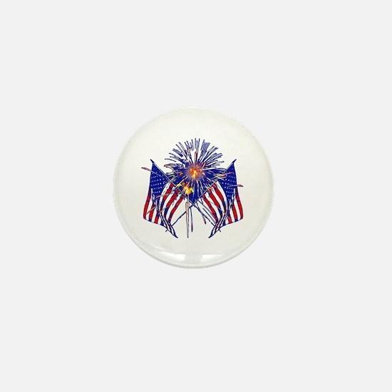 Celebrate America fireworks Mini Button (10 pack)