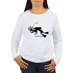Kokopelli SCUBA Diver Women's Long Sleeve T-Shirt