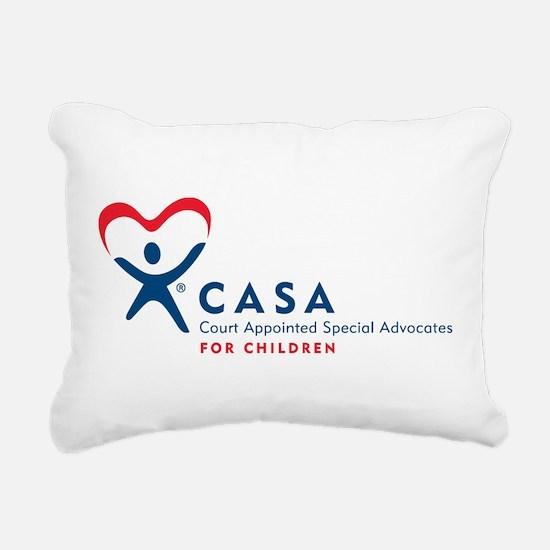 CASA Logo (Horizontal) Rectangular Canvas Pillow