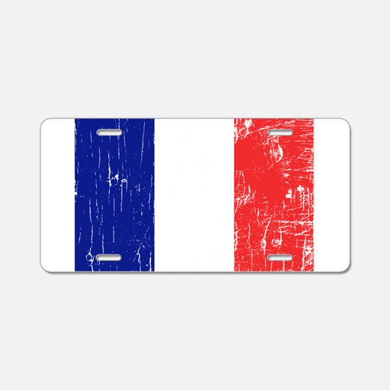 Cute French flag Aluminum License Plate