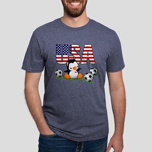 USA Soccer Mens Tri-blend T-Shirt