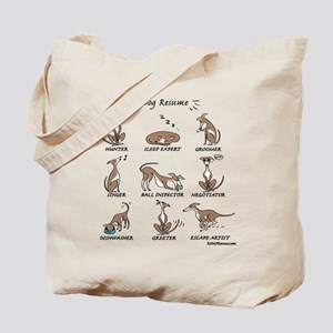 Dog Resume Tote Bag