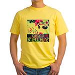 Disco Fairy Drag Diva Yellow T-Shirt